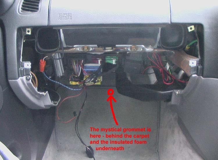 bmw e36 glovebox removal as you can see from the picture above the access hole is beneath the carpet not the mat but the actual carpet it just pulls back if you tug it hard